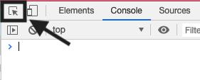 HTML要素を選択するためのボタン