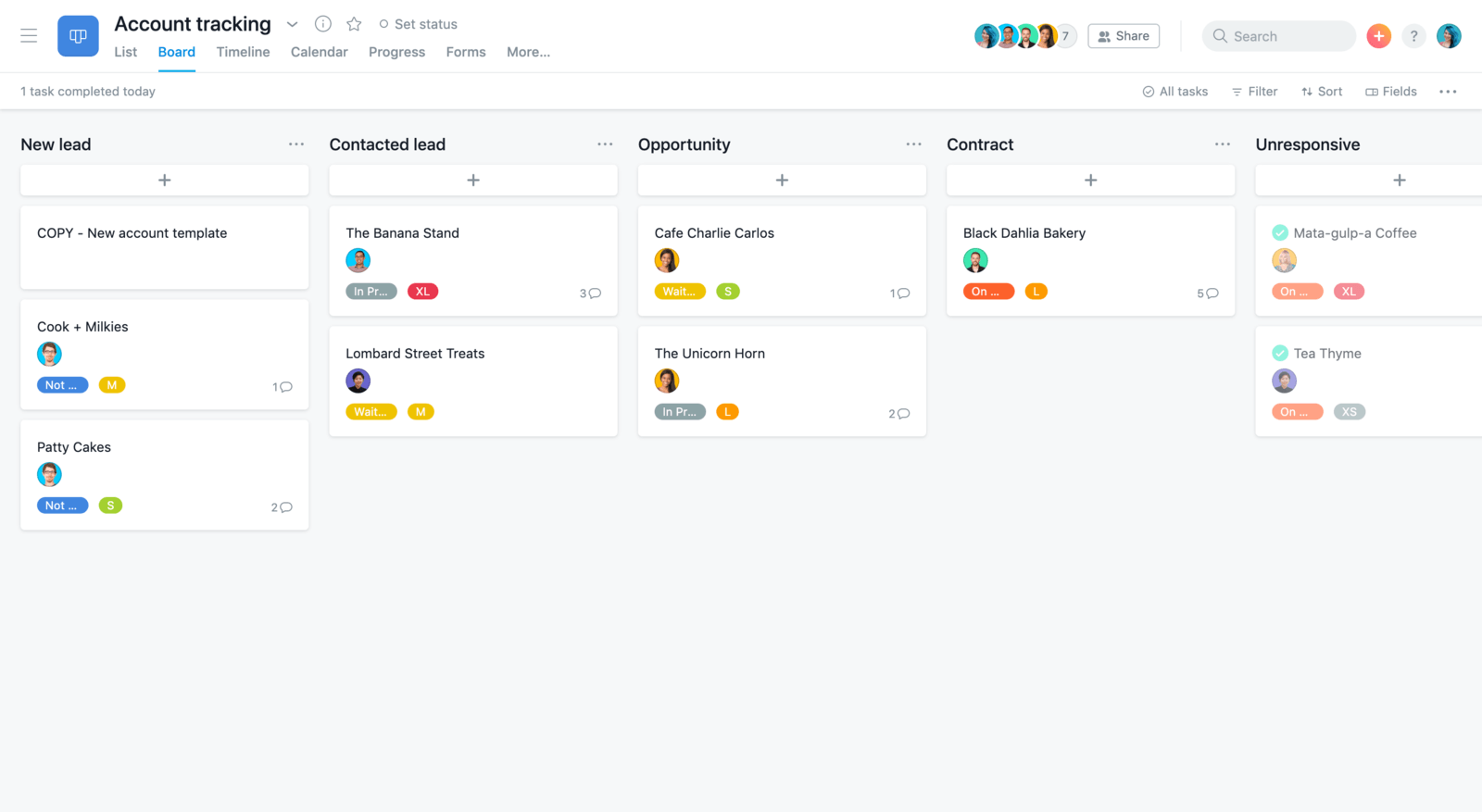 online project planning tool Asana