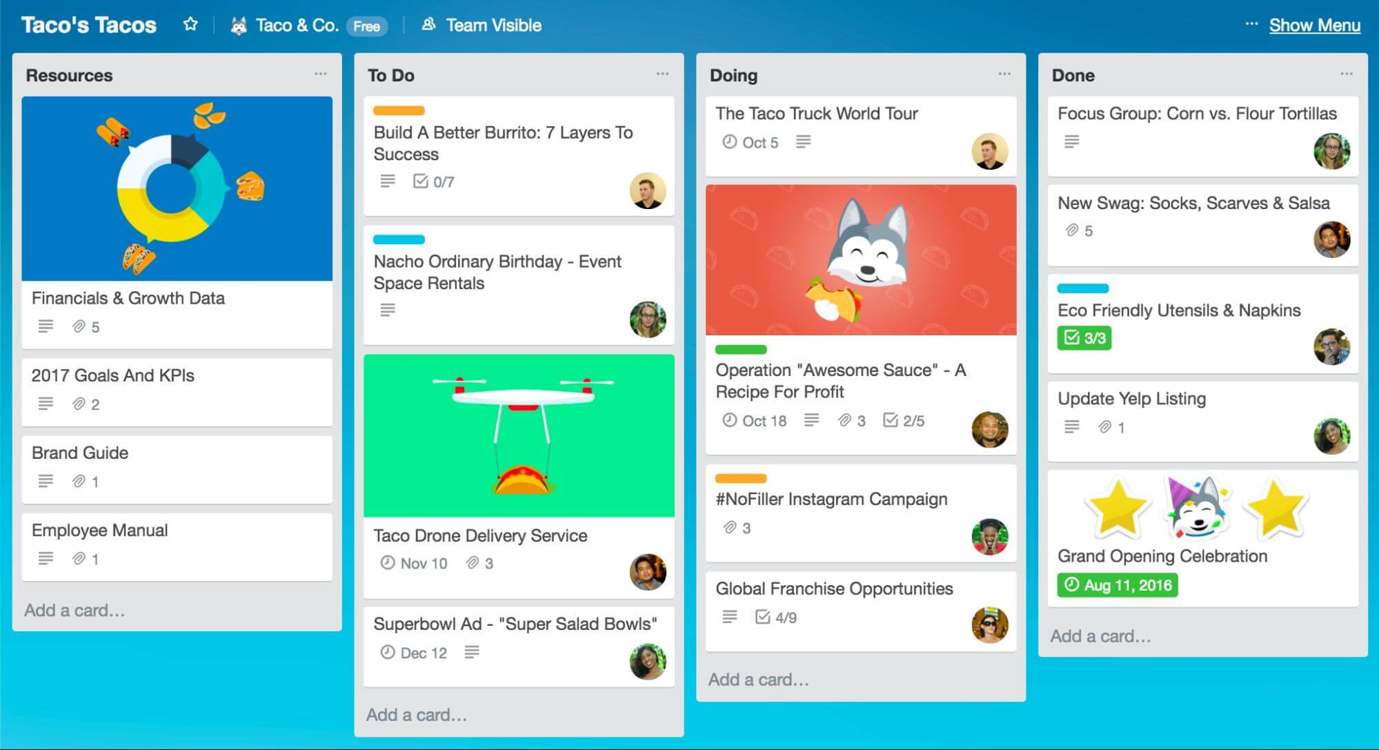 web-based Kanban-style project planning Trello