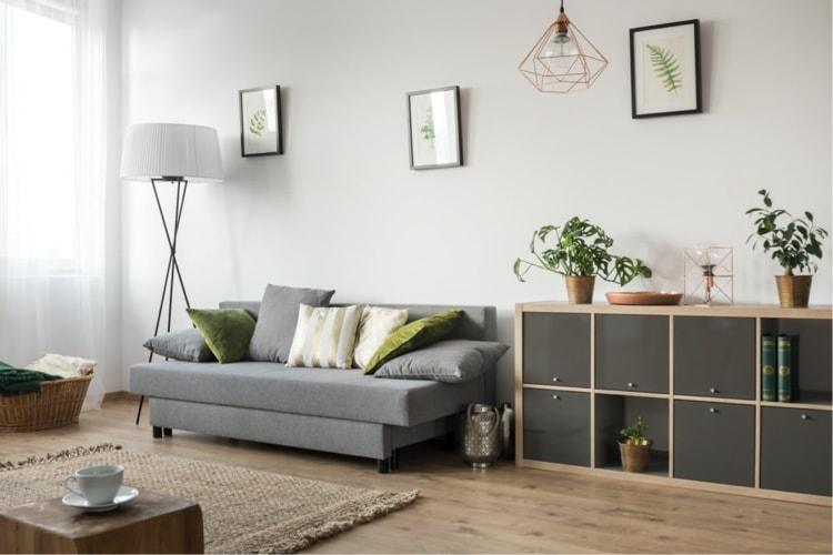 sala minimalista decoração