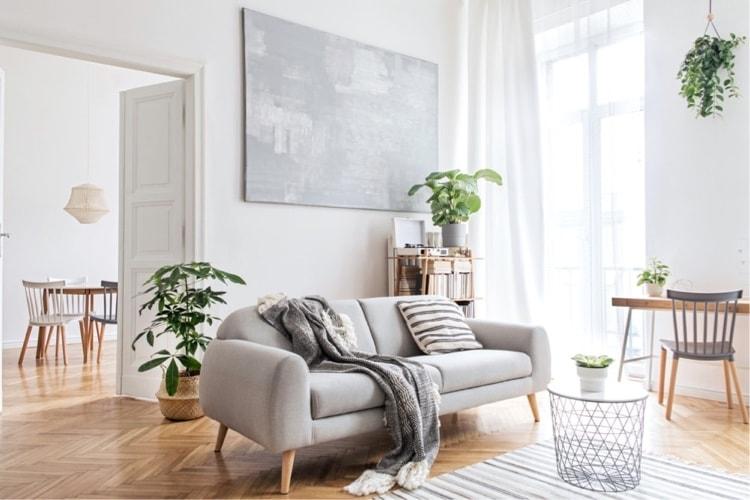 sala estilo escandinavo