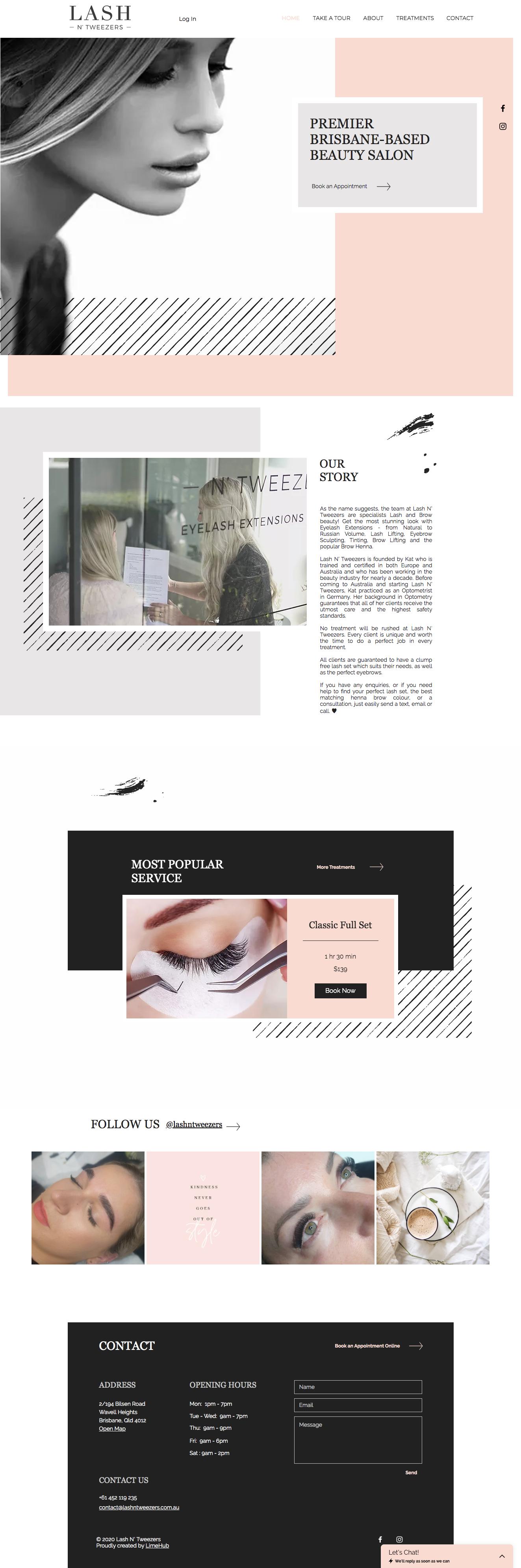New Lash N Tweezers Home Page