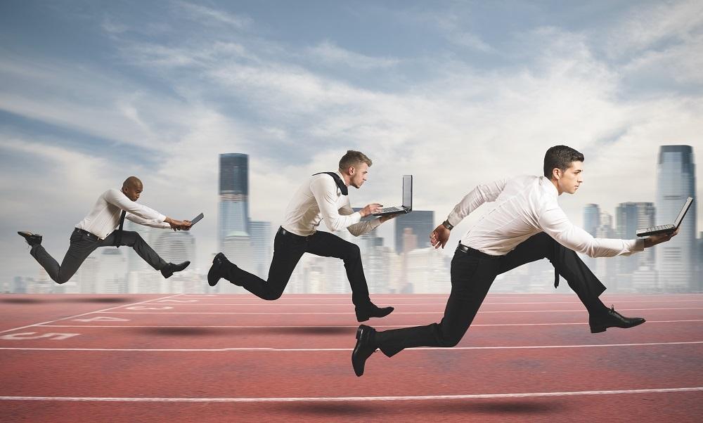 running fast mid