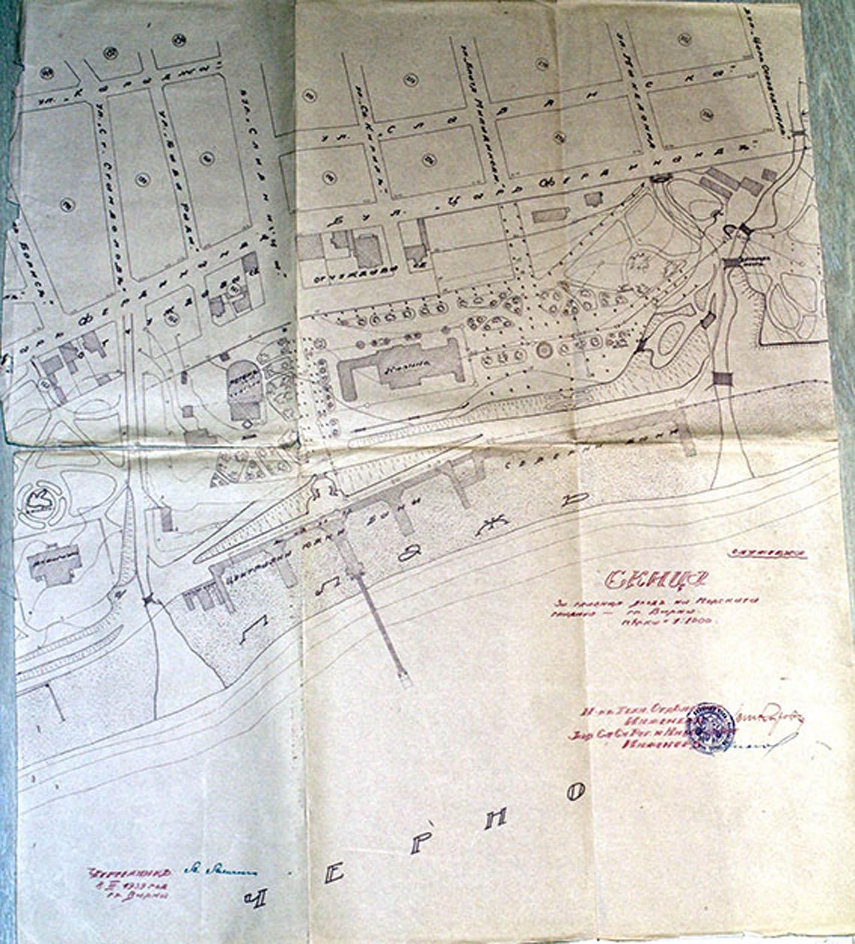 Скица - 1939г. /изт.: Архив-Община Варна/