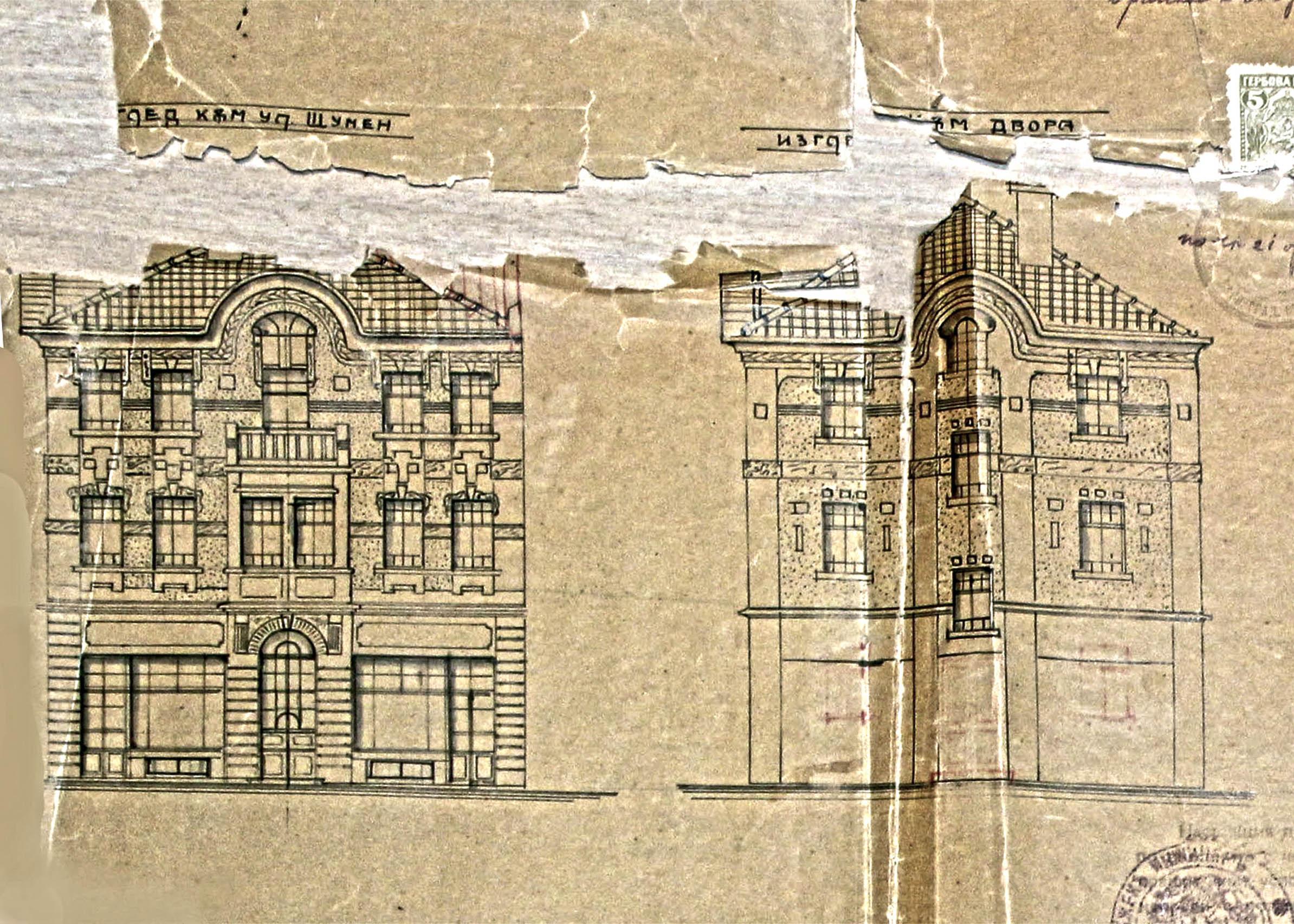 Фасади - 1922г. /изт.:Архив-Община Варна/