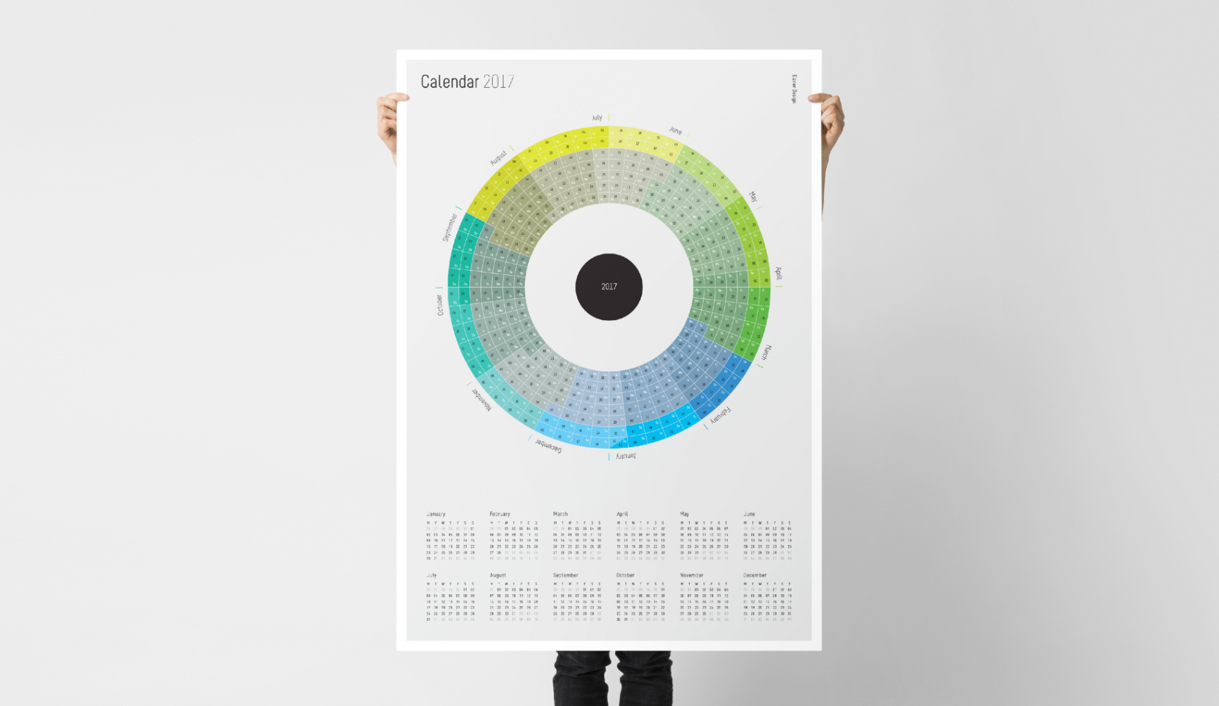 Calendar design data visualisation
