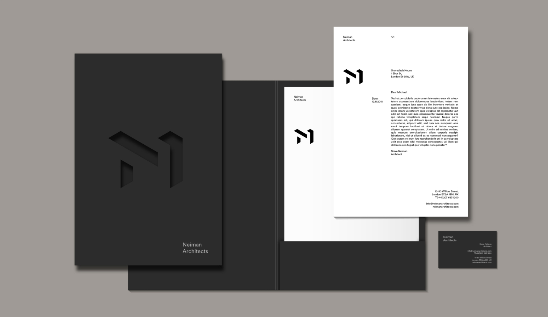 Neiman Architects brand identity design