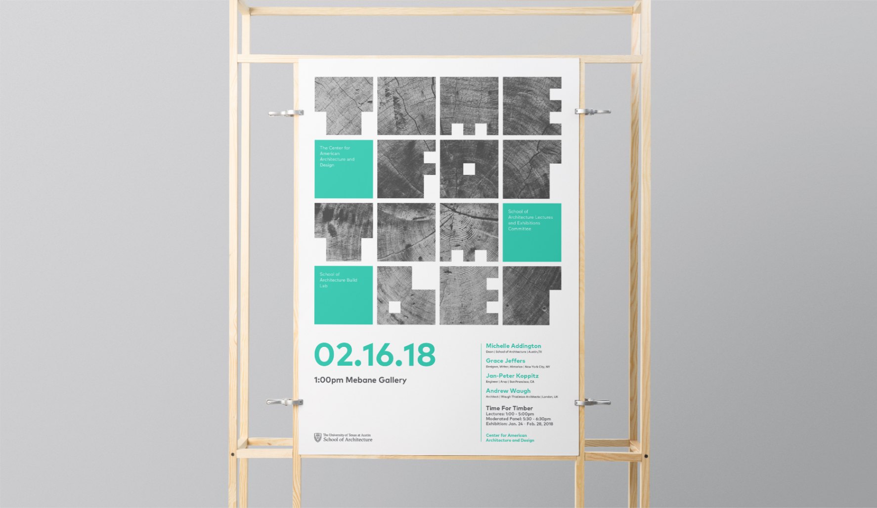 Time For Timber exhibition poster