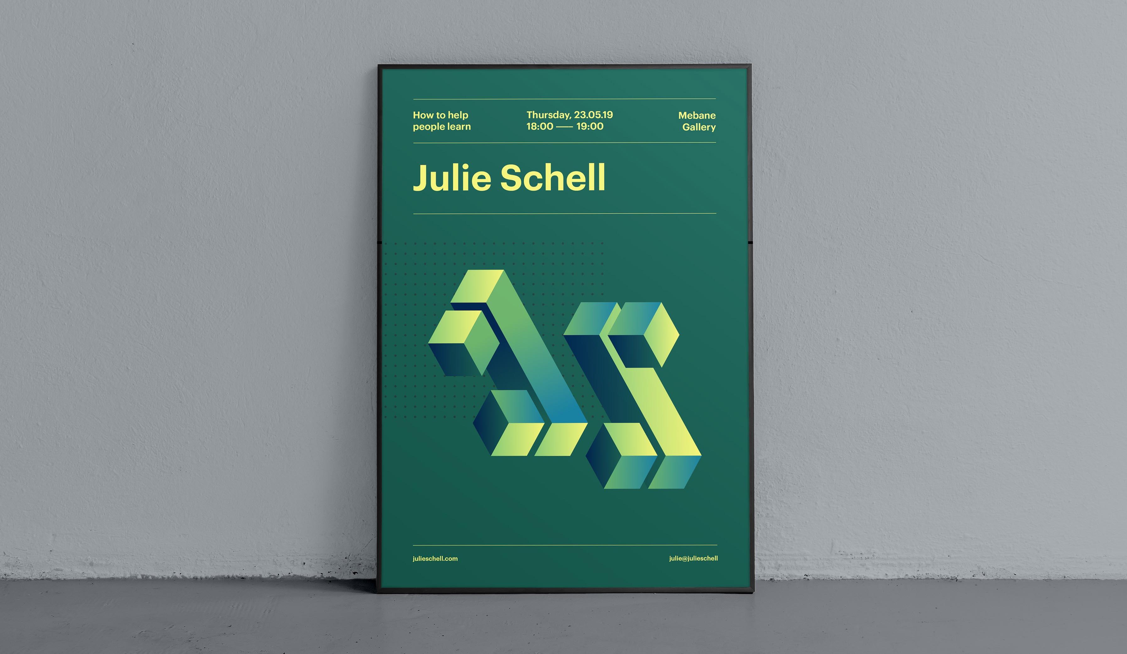 Julie Schell branding and website design
