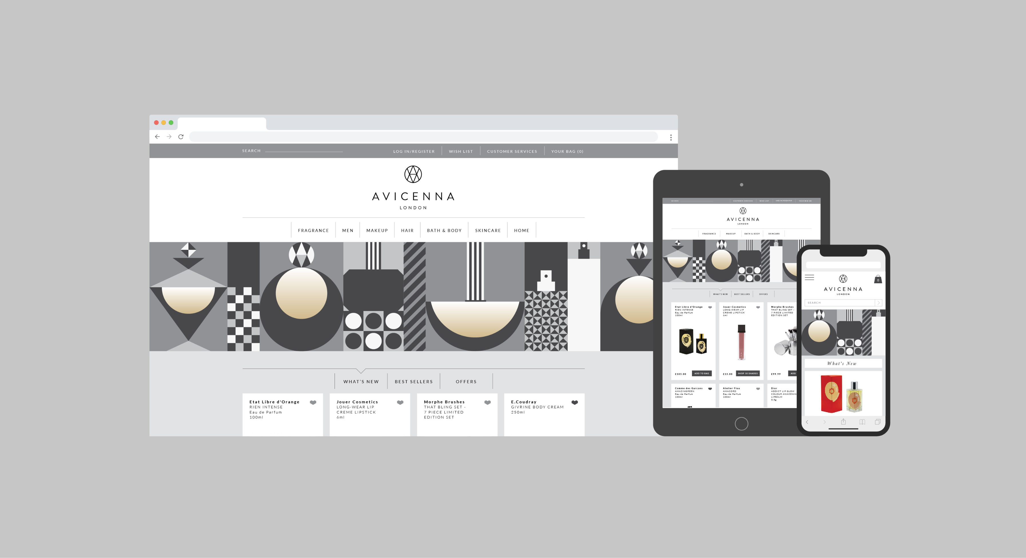Avicenna perfume shop brand identity and website design