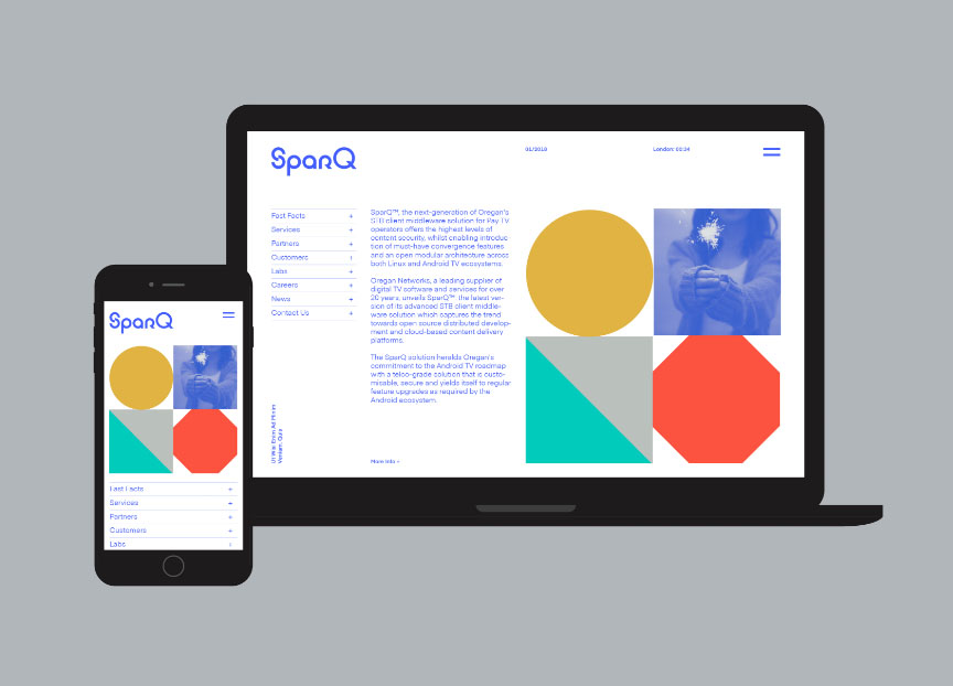 SparQ digital TV software brand identity