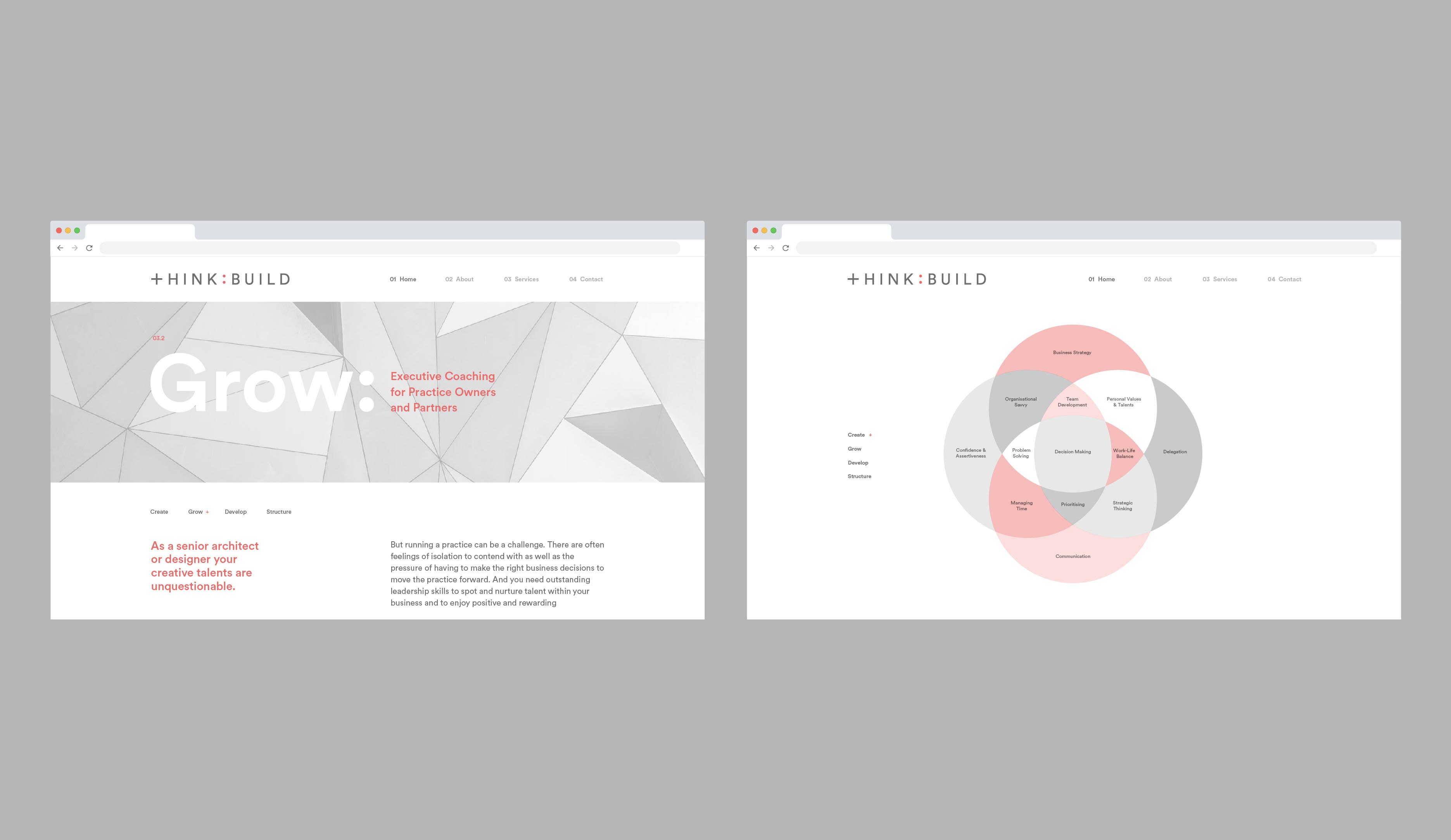 Think:Build brand identity and website