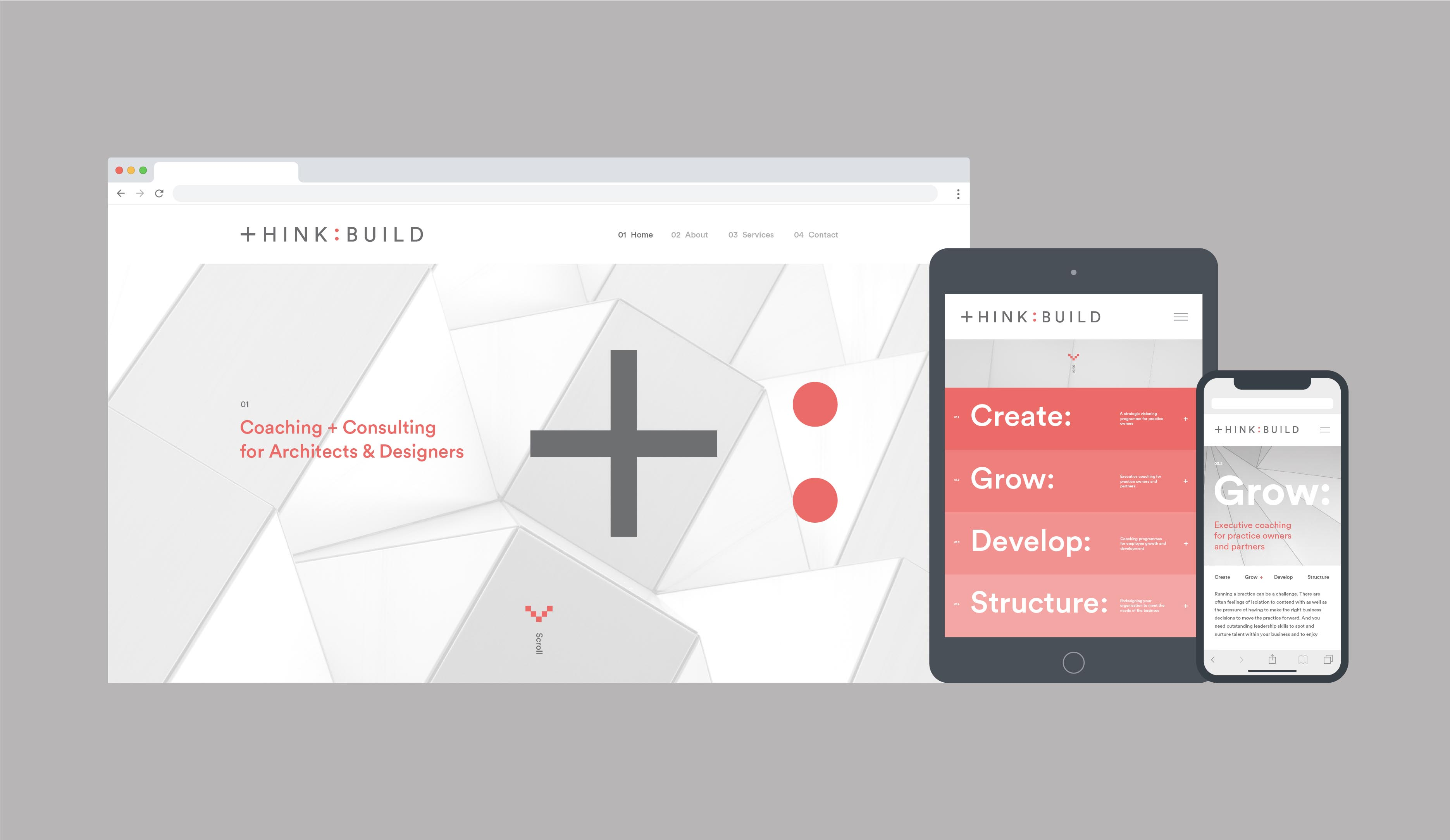 Think:Build brand identity and website design