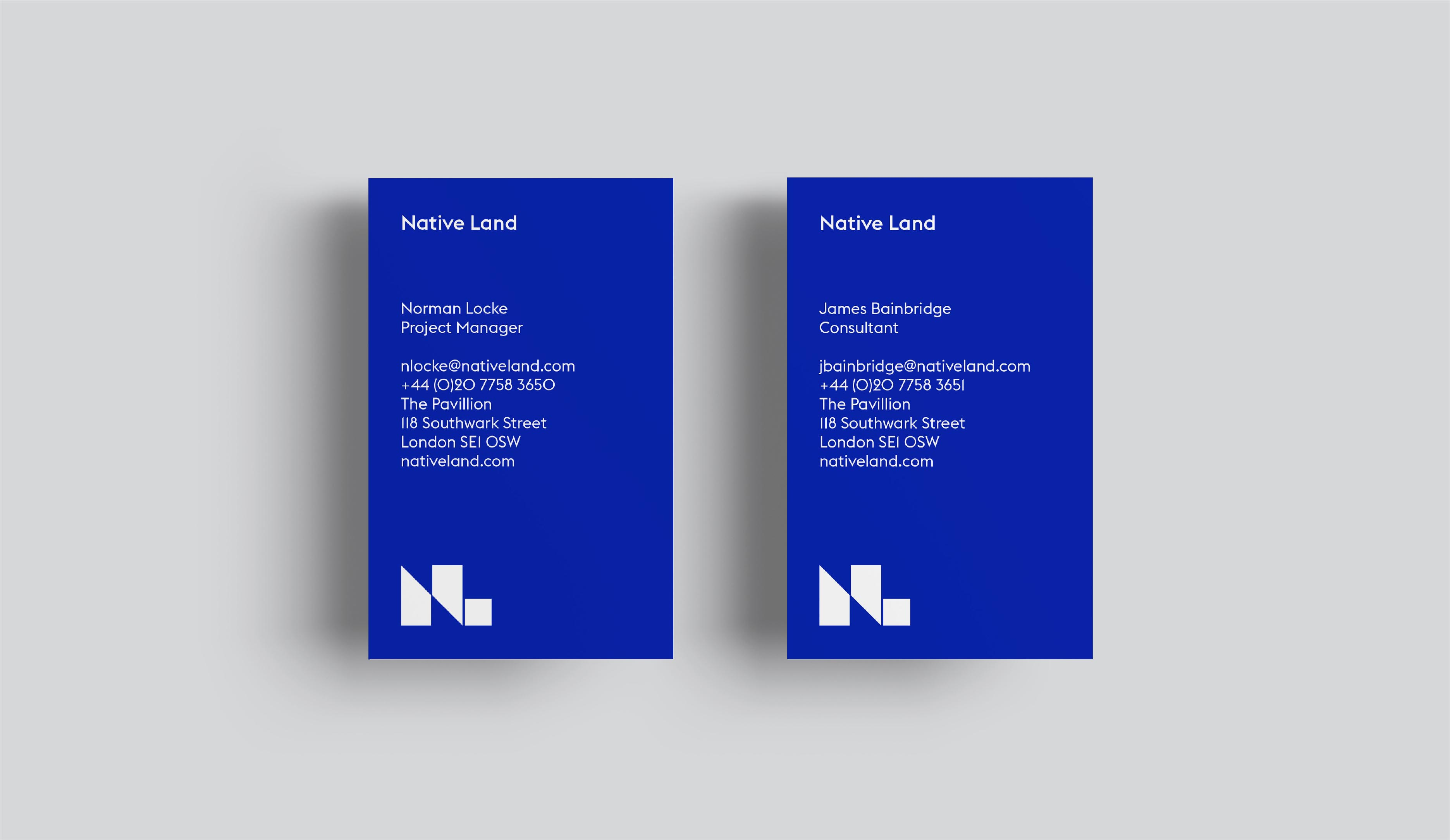 Native Land property development brand identity