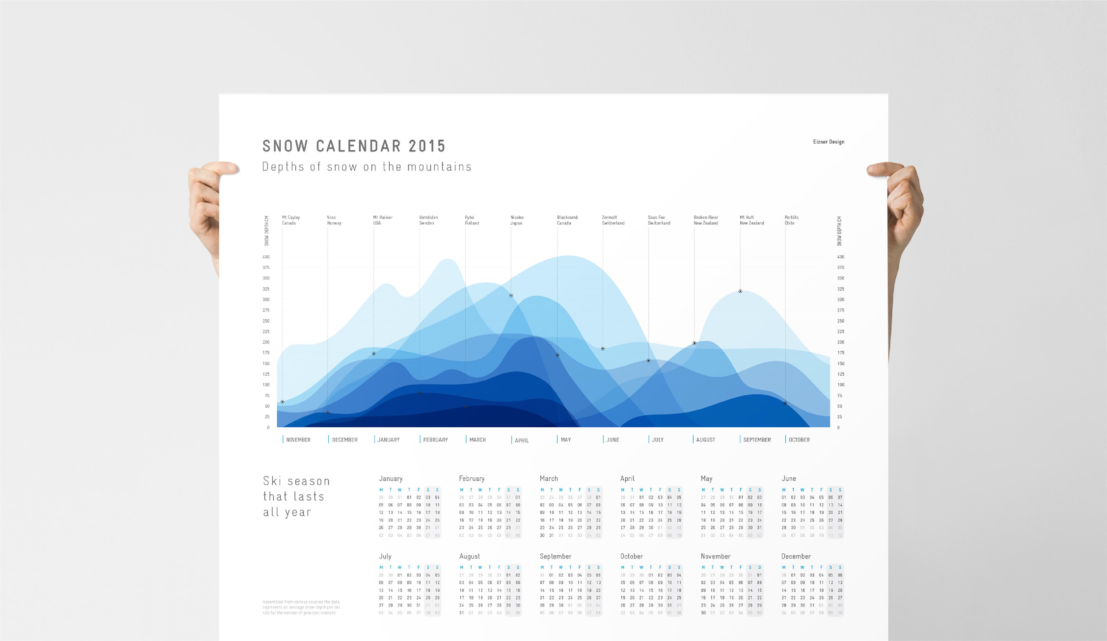 Snow calendar