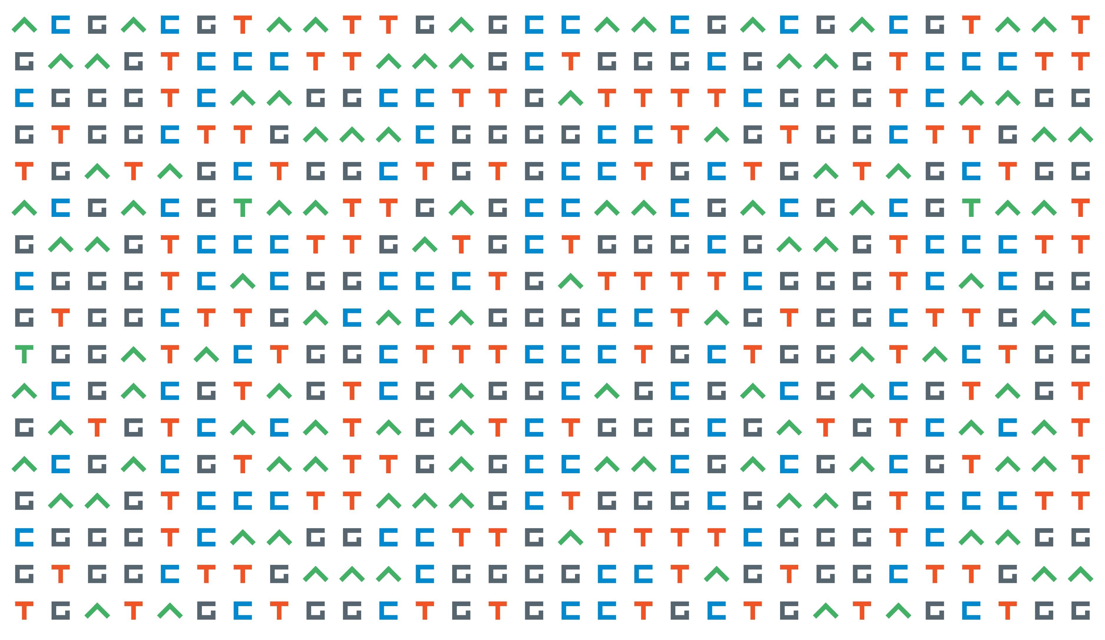 Applied Genomics brand identity pattern