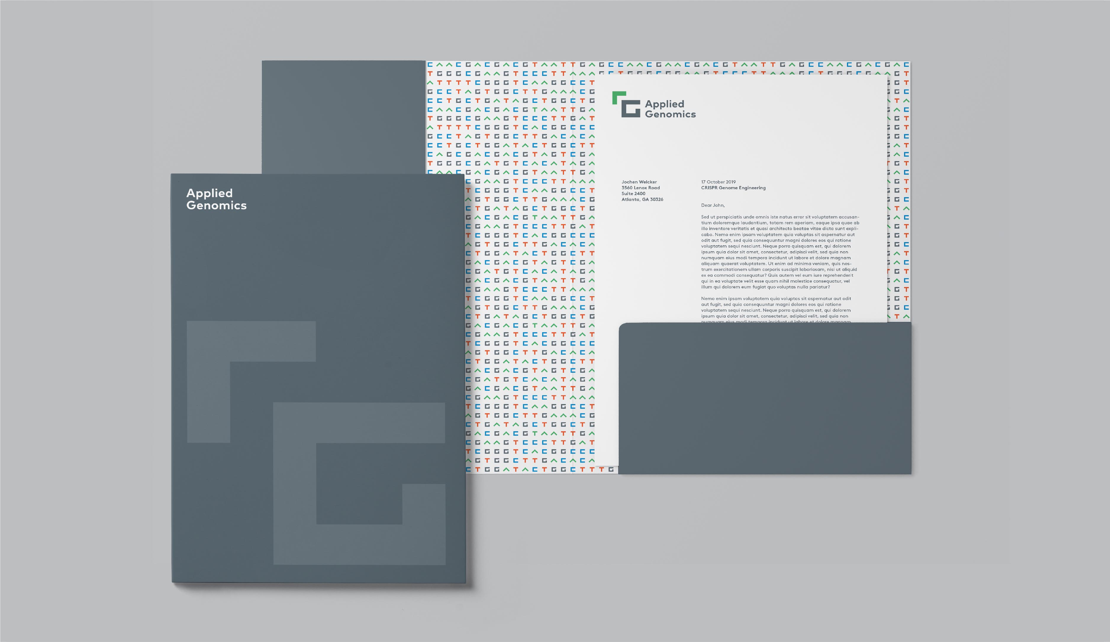 Applied Genomics brand identity