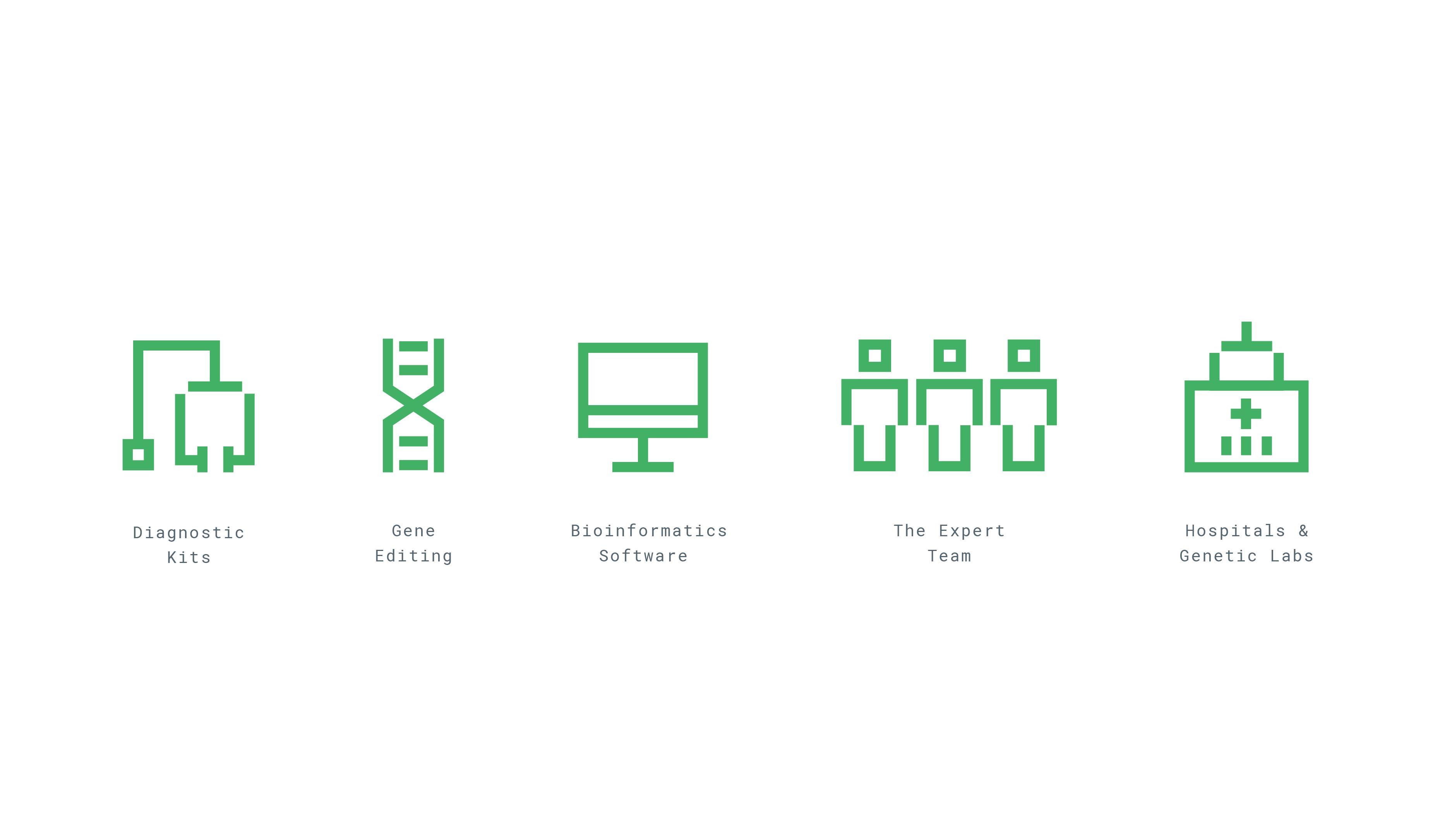 Applied Genomics brand identity icons