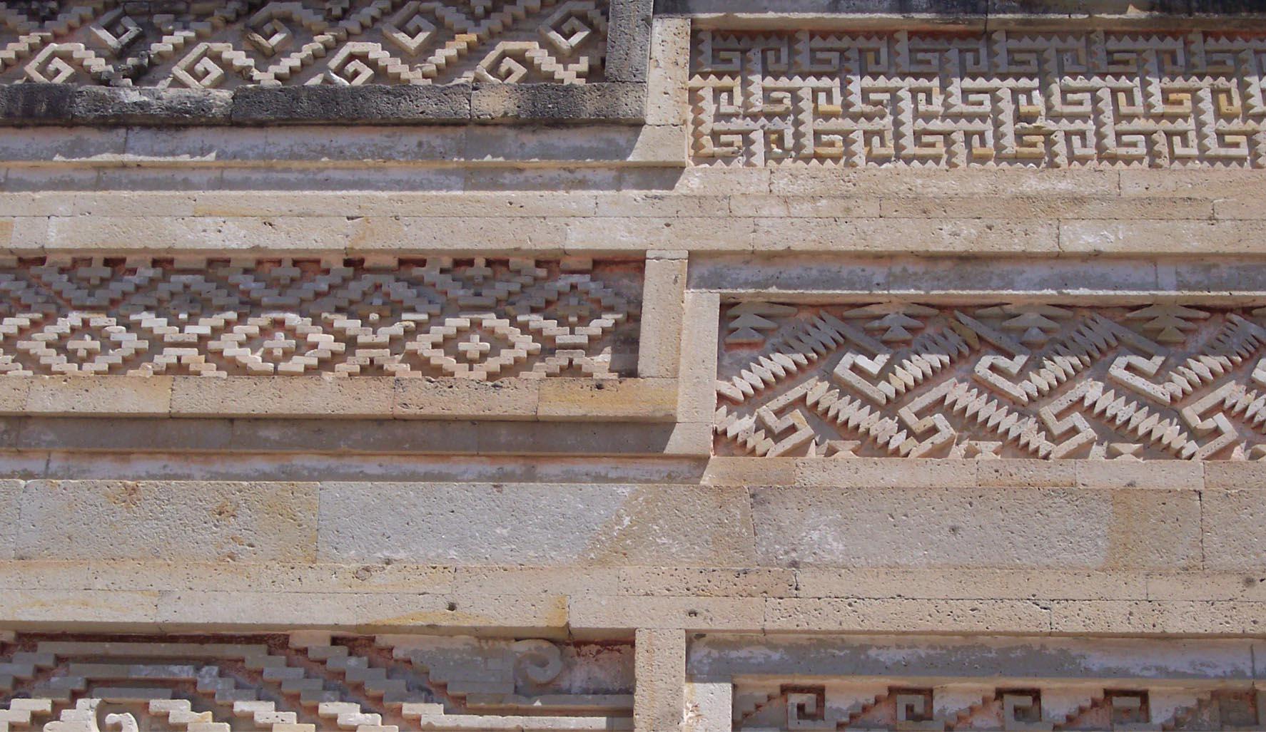 Mitla patterns for Tosba mezcal packaging