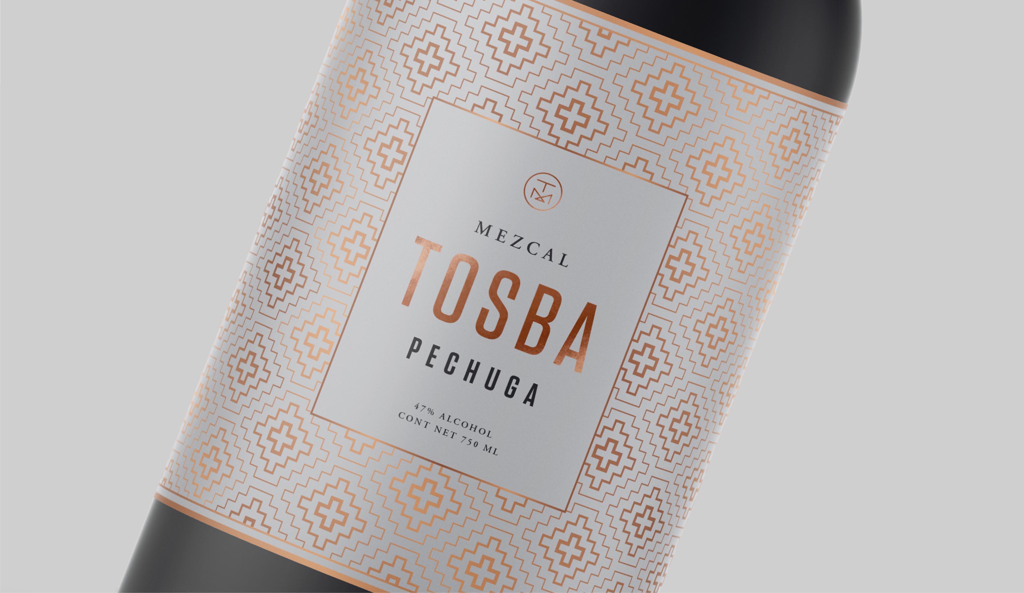 Tosba Mezcal packaging design