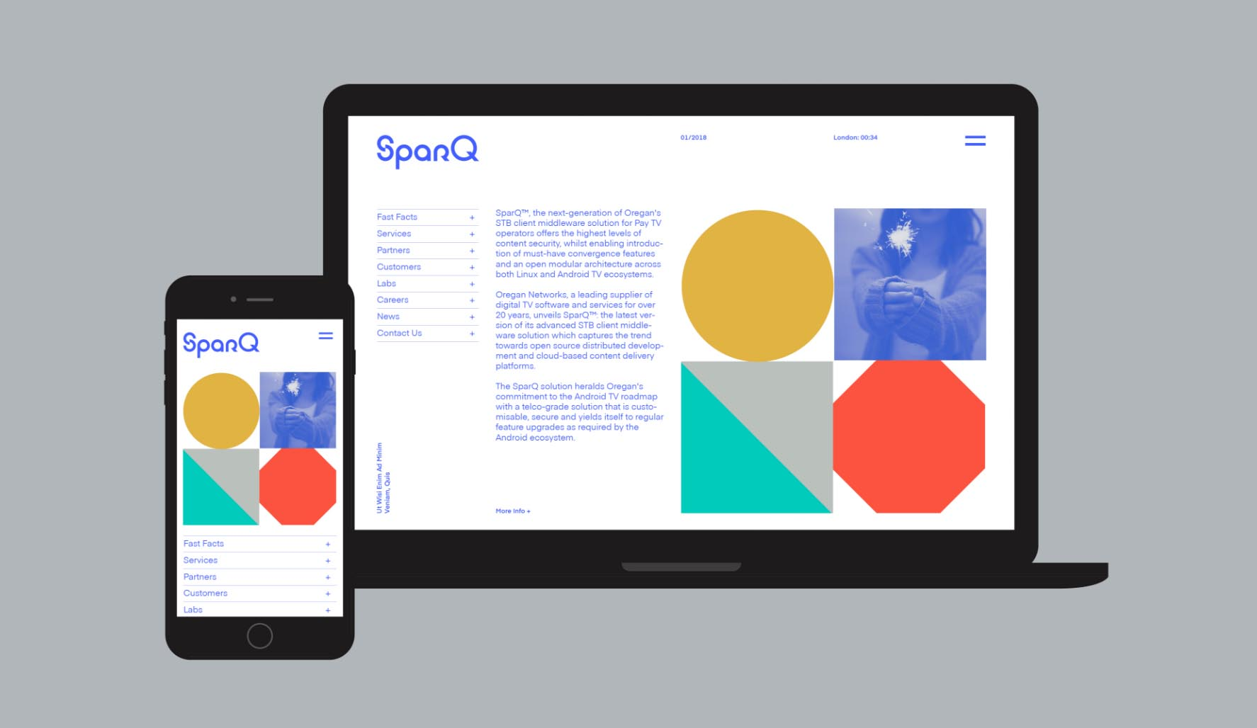 SparQ digital tv software logo and website design