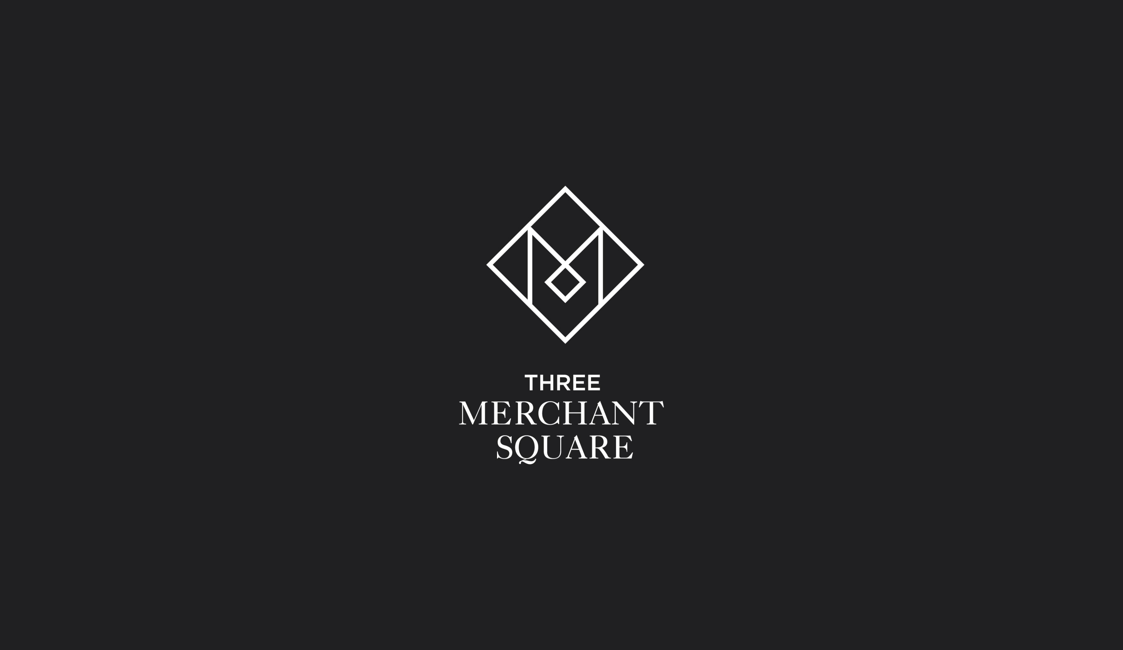 Three Merchant Square logo design