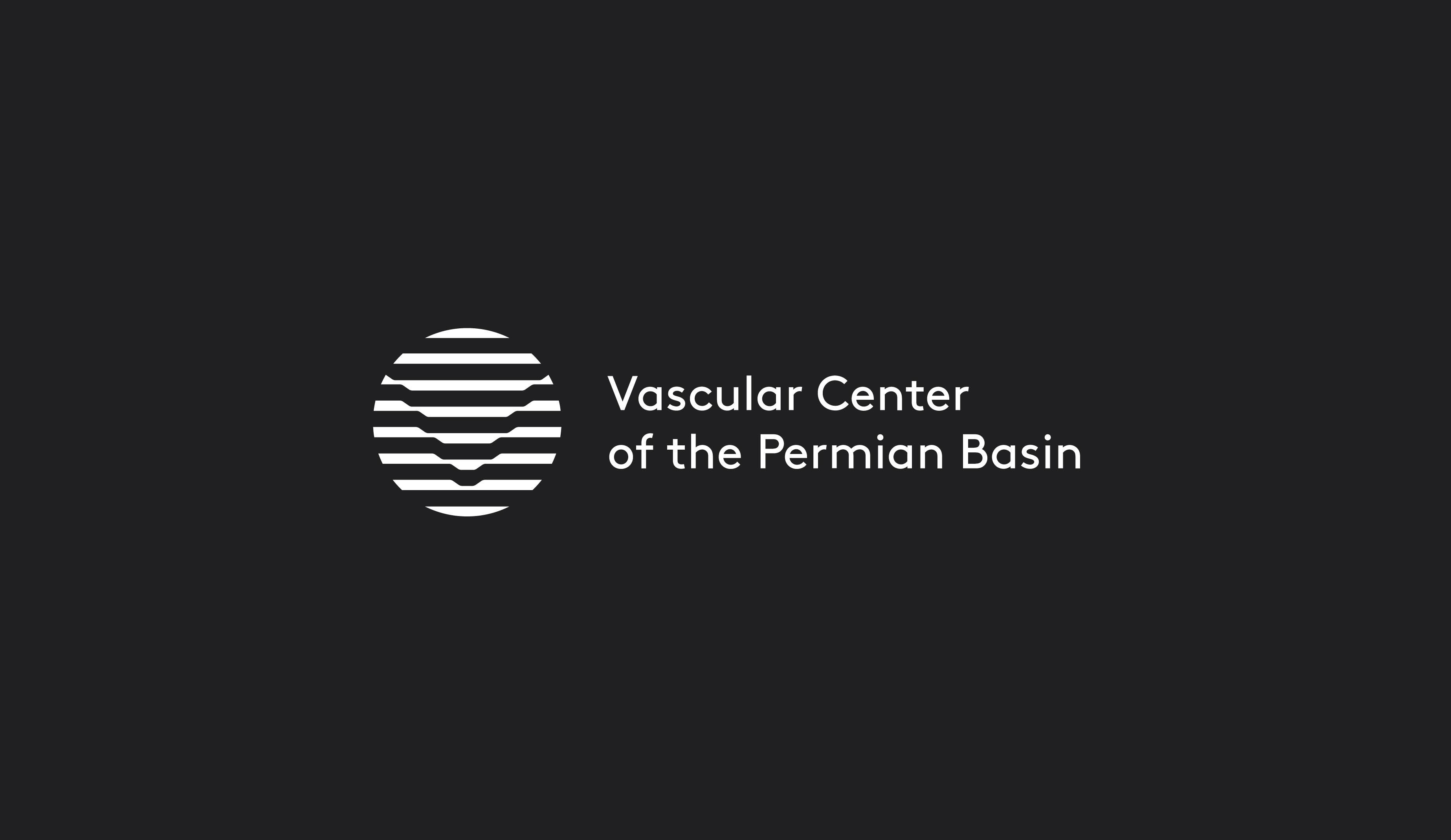 Vascular Center of the Permian Basin logo design