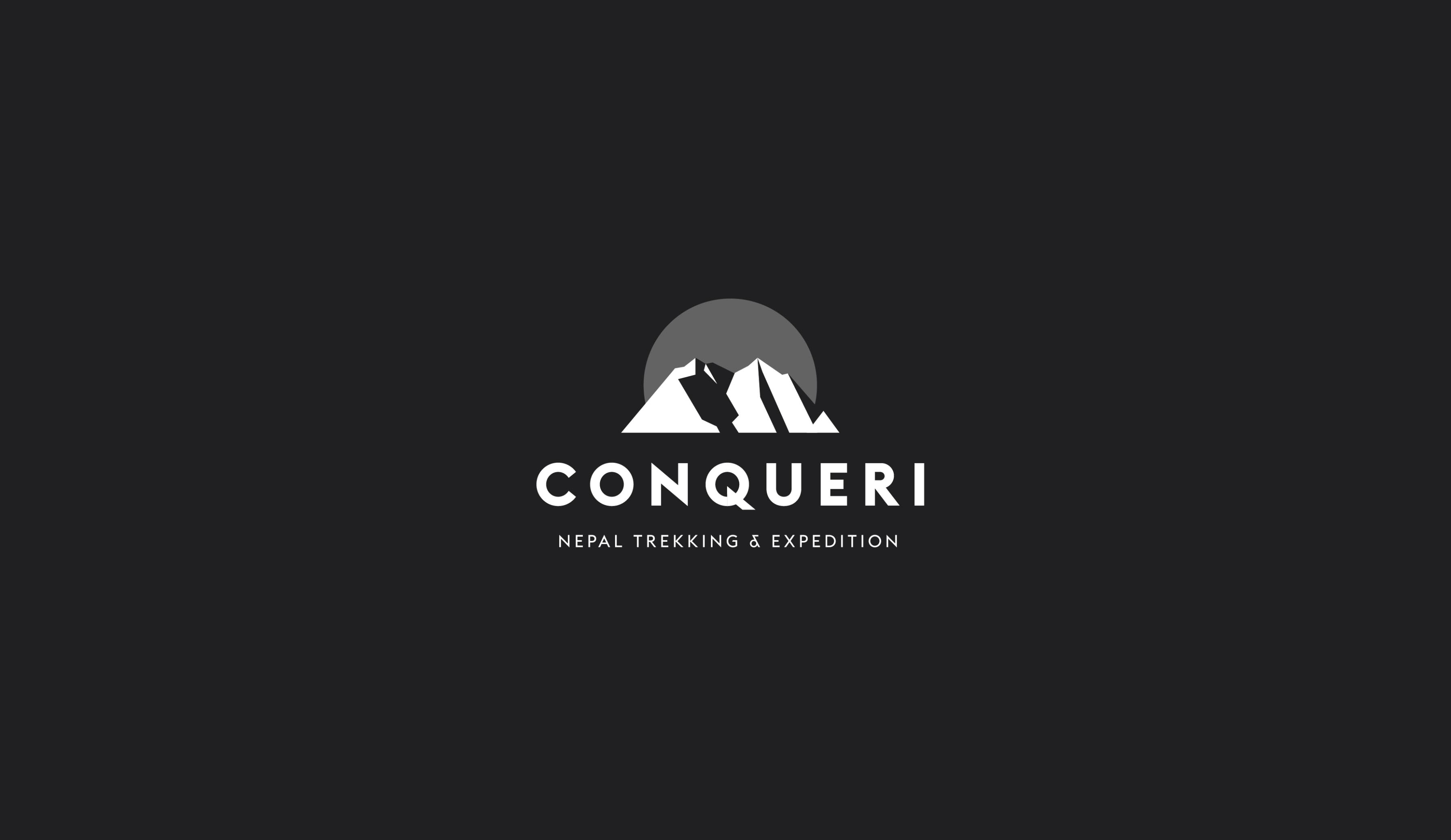 Nepal trekking company logo design