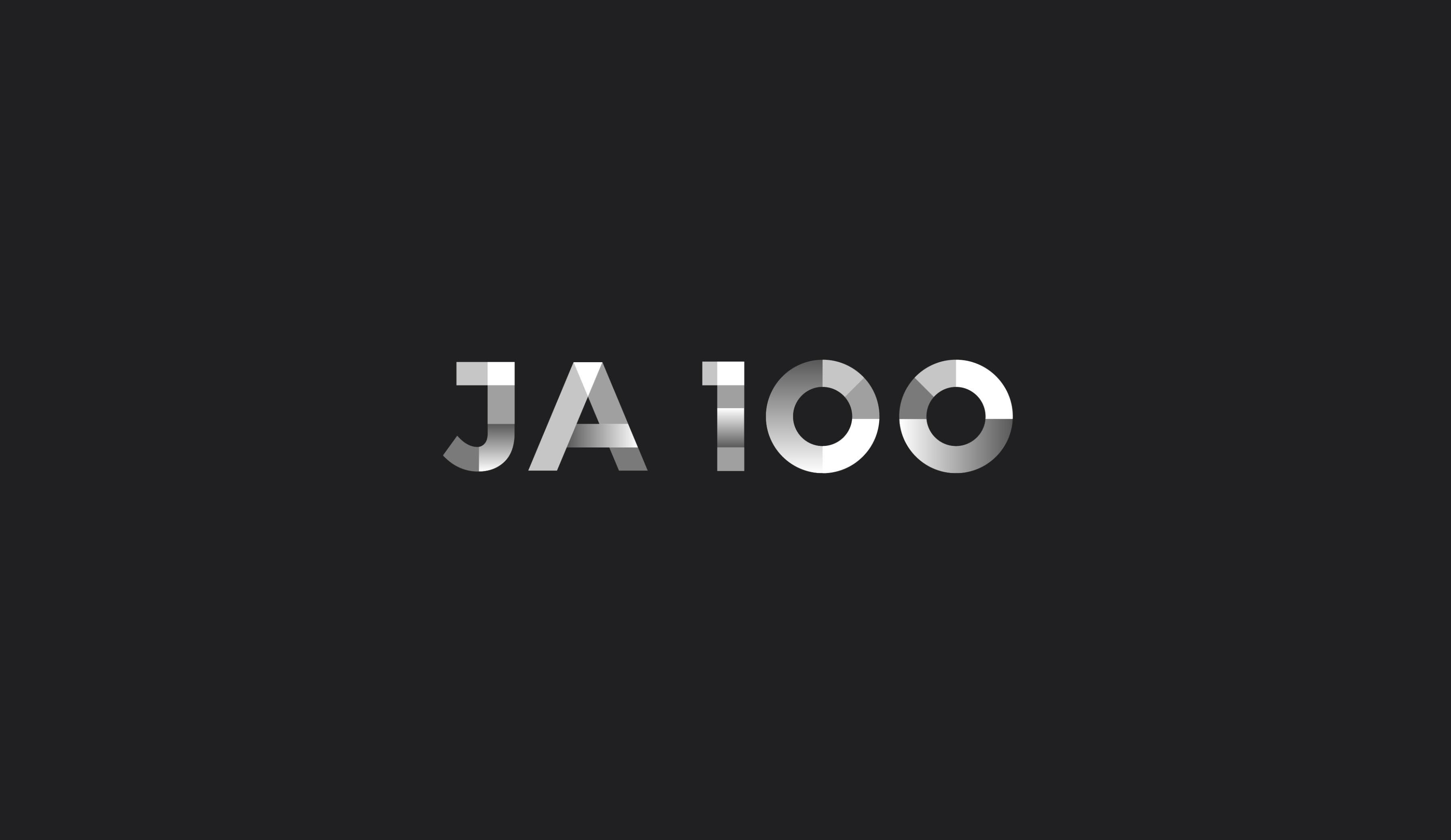 JA 100 logo design