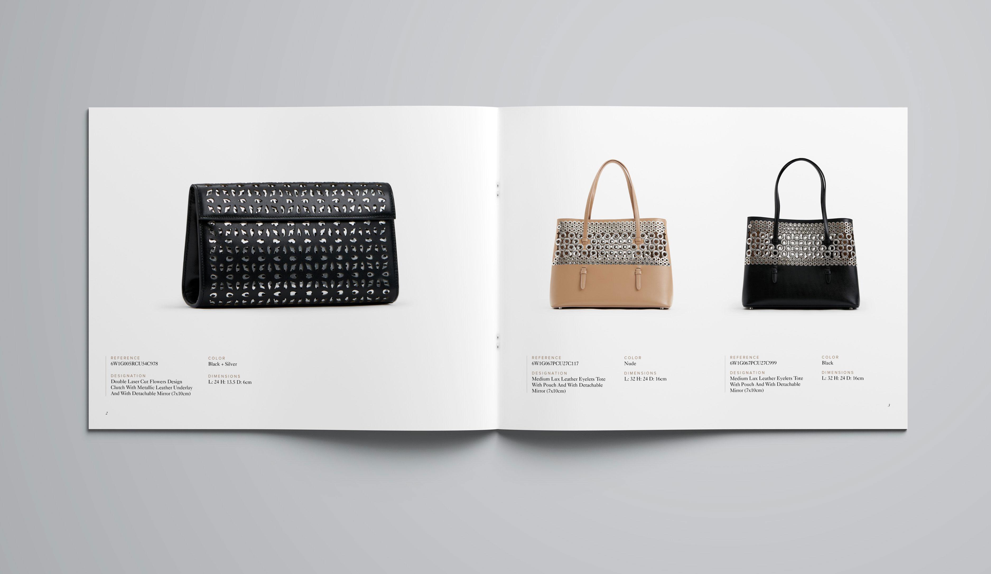 Alaïa catalogue design