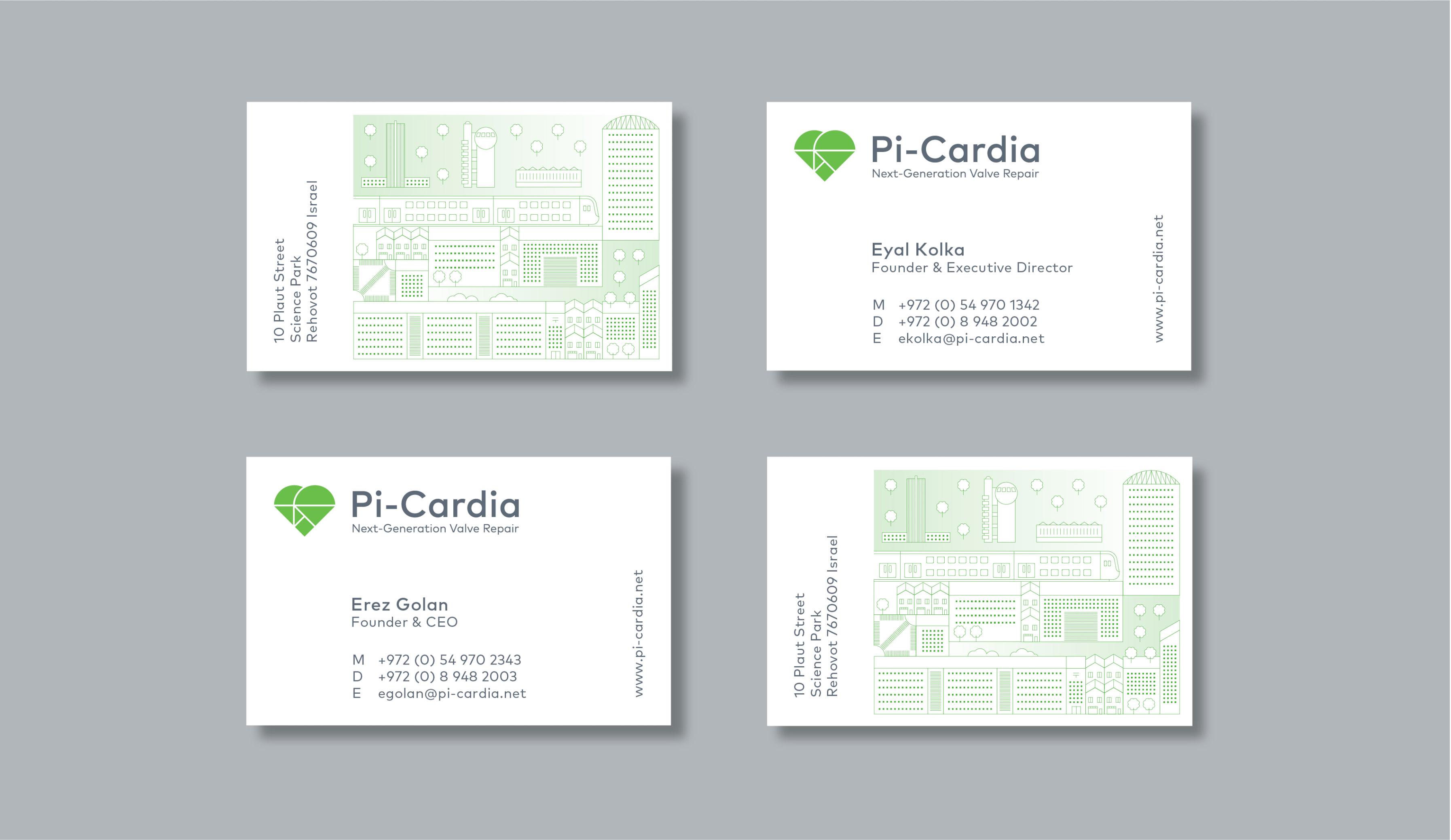 Pi-Cardia brand identity design and website design
