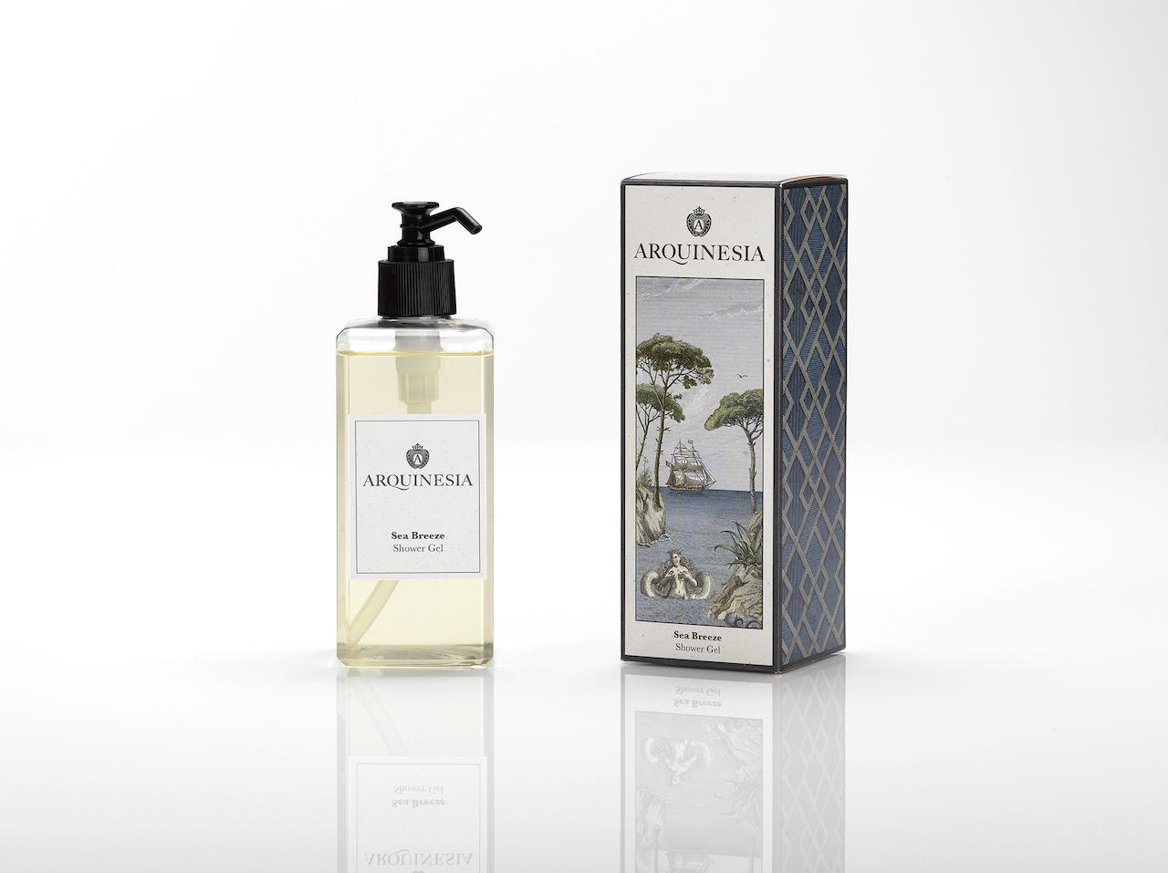 Das natürliche, vegane Duschgel (300ml) von Arquinesia eignet sich besonders für häufiges Duschen. Duft: Sea Breeze.
