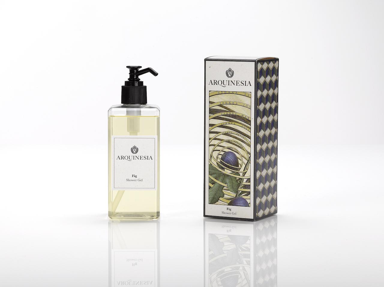 Das natürliche, vegane Duschgel (300ml) von Arquinesia eignet sich besonders für häufiges Duschen. Duft: Fig.