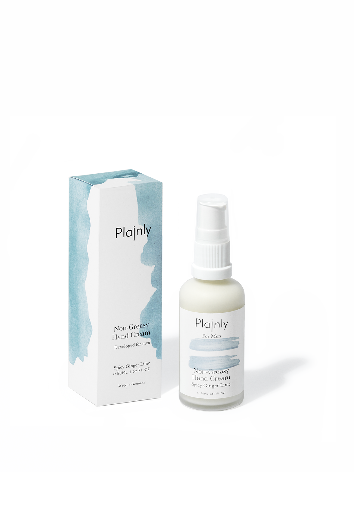 Non-Greasy Hand Cream For Men mit Ingwer Limette Duft. 50ml.