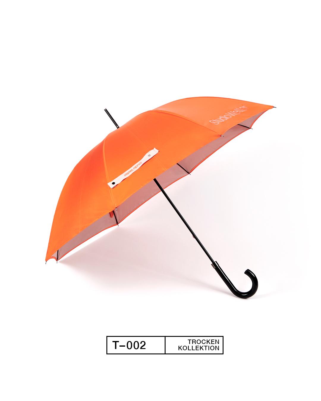 T-002, Orange/Beige. Aus 100% recycelten Plastikflaschen.