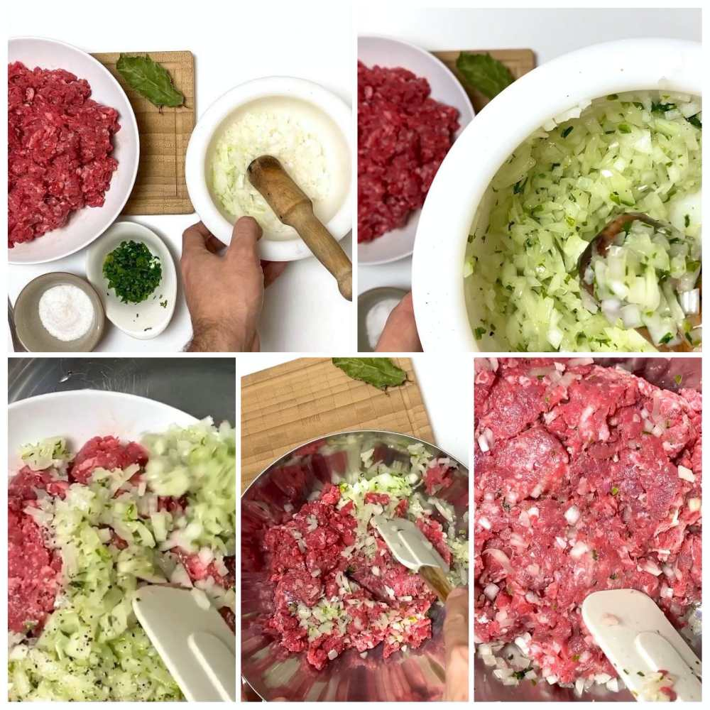 Collage Making Meatballs