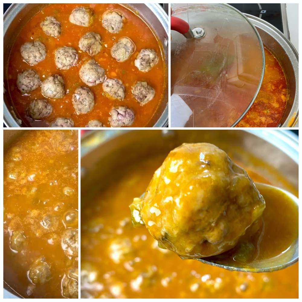 Collage of meatballs