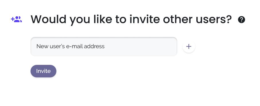 Invite users in onboarding keywi