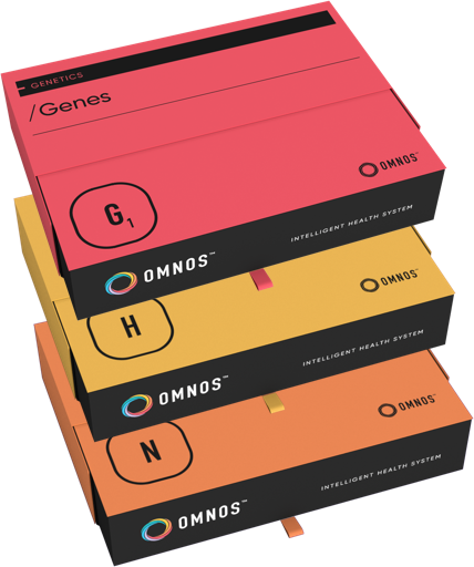 Omnos Test boxes stacked