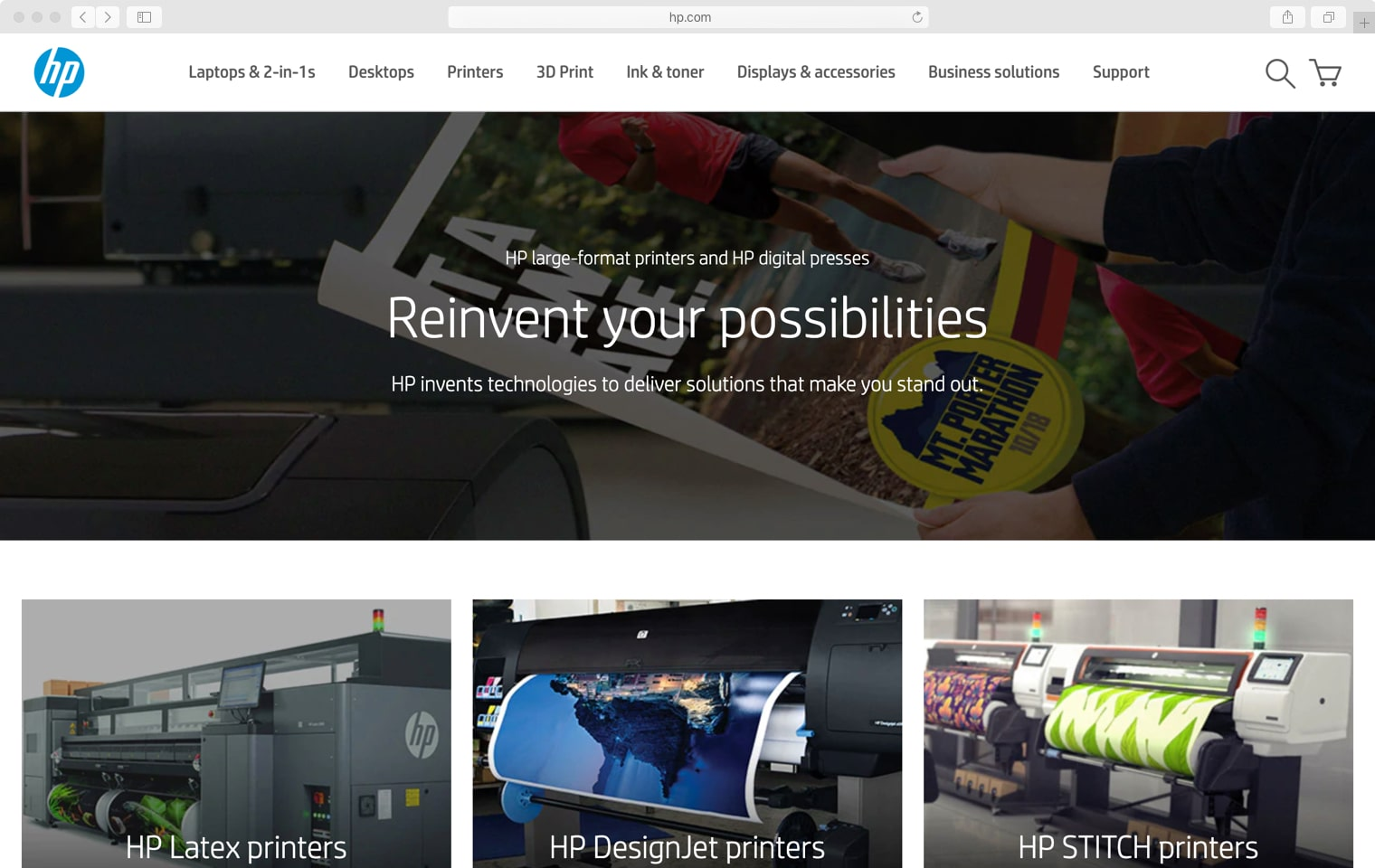 HP.com Graphic Arts main website