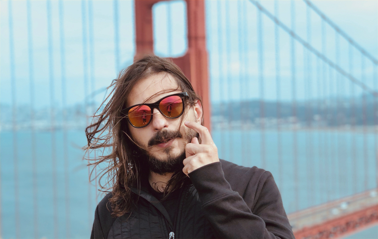 Carlos in San Francisco in the Golden Gate bridge