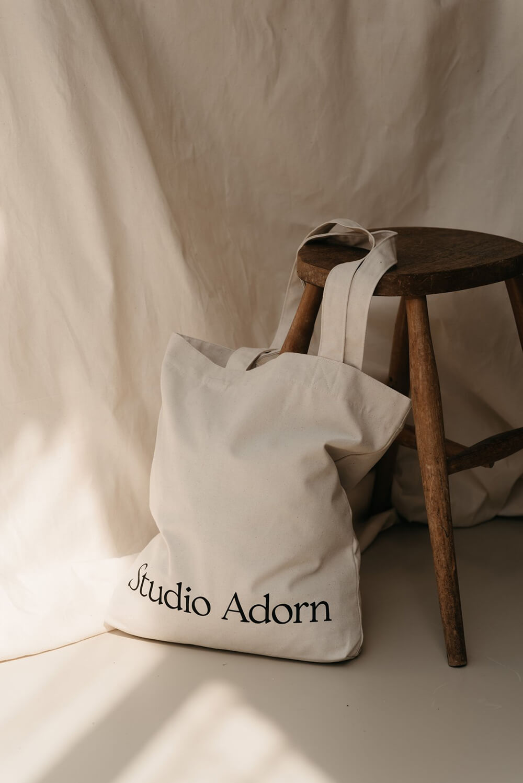 Image of branded Studio Adorn totebag