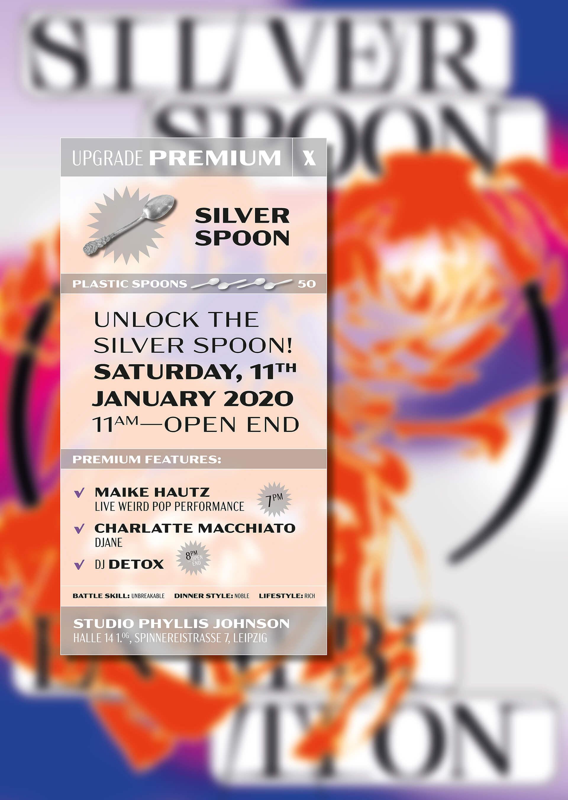 Silver Spoon Exhibition Poster