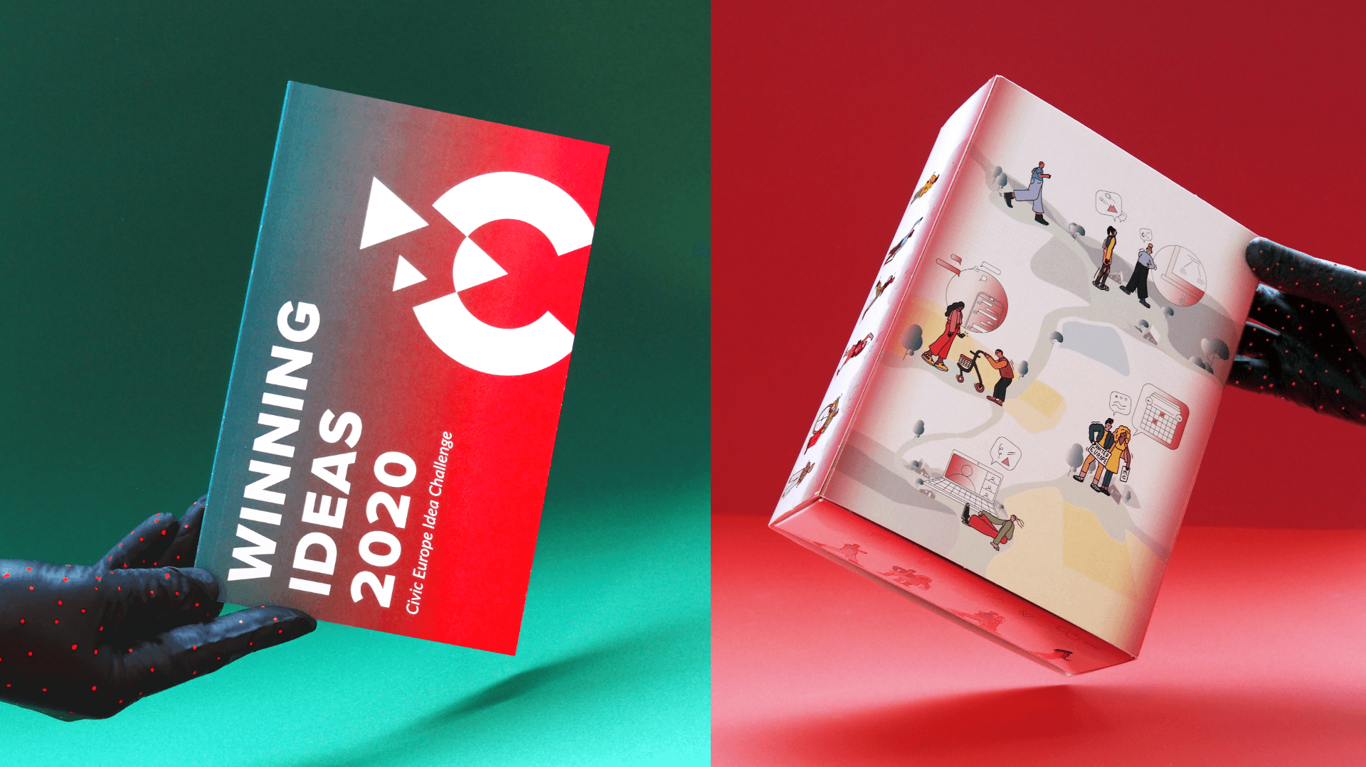 booklet and packaging for civic europe