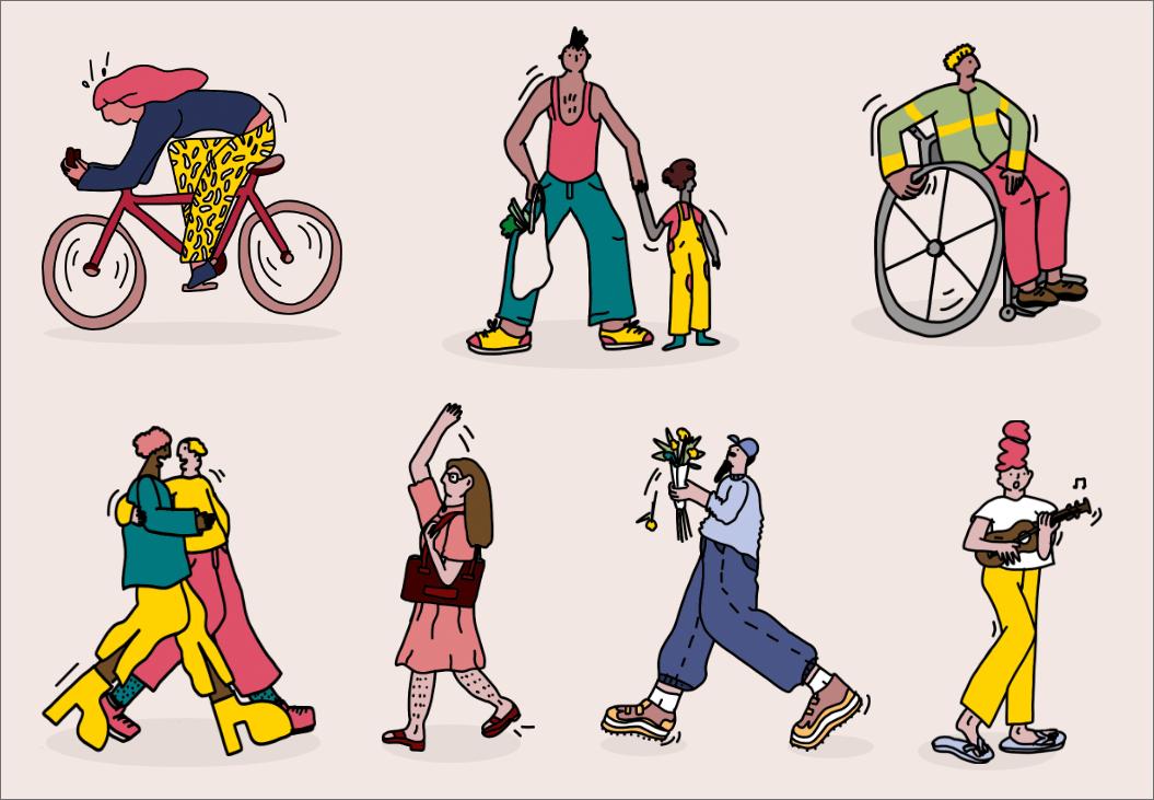 Civic Europe illustrations