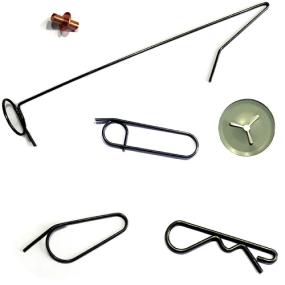 pernos de soldar, ganchos y clips