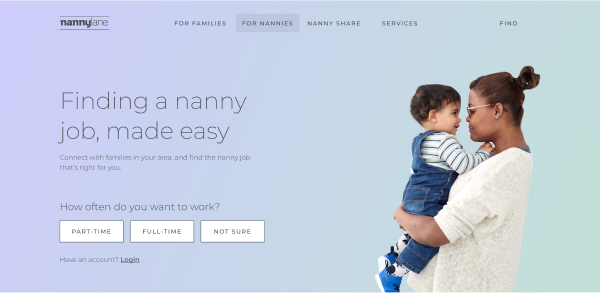 Thumbnail image of the new nanny landing page