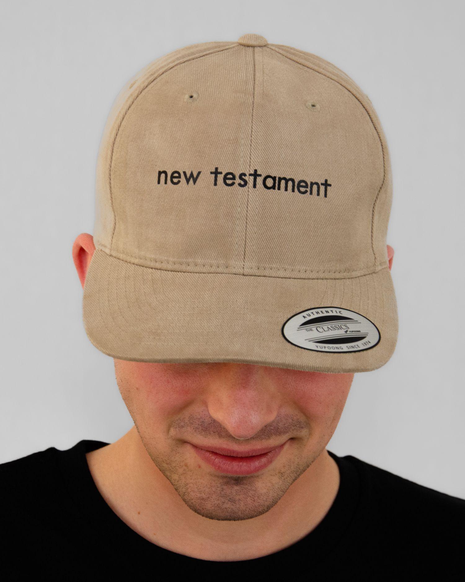 New Testament Original Classic Yupoong Cap Khaki Heren-vooraanzicht