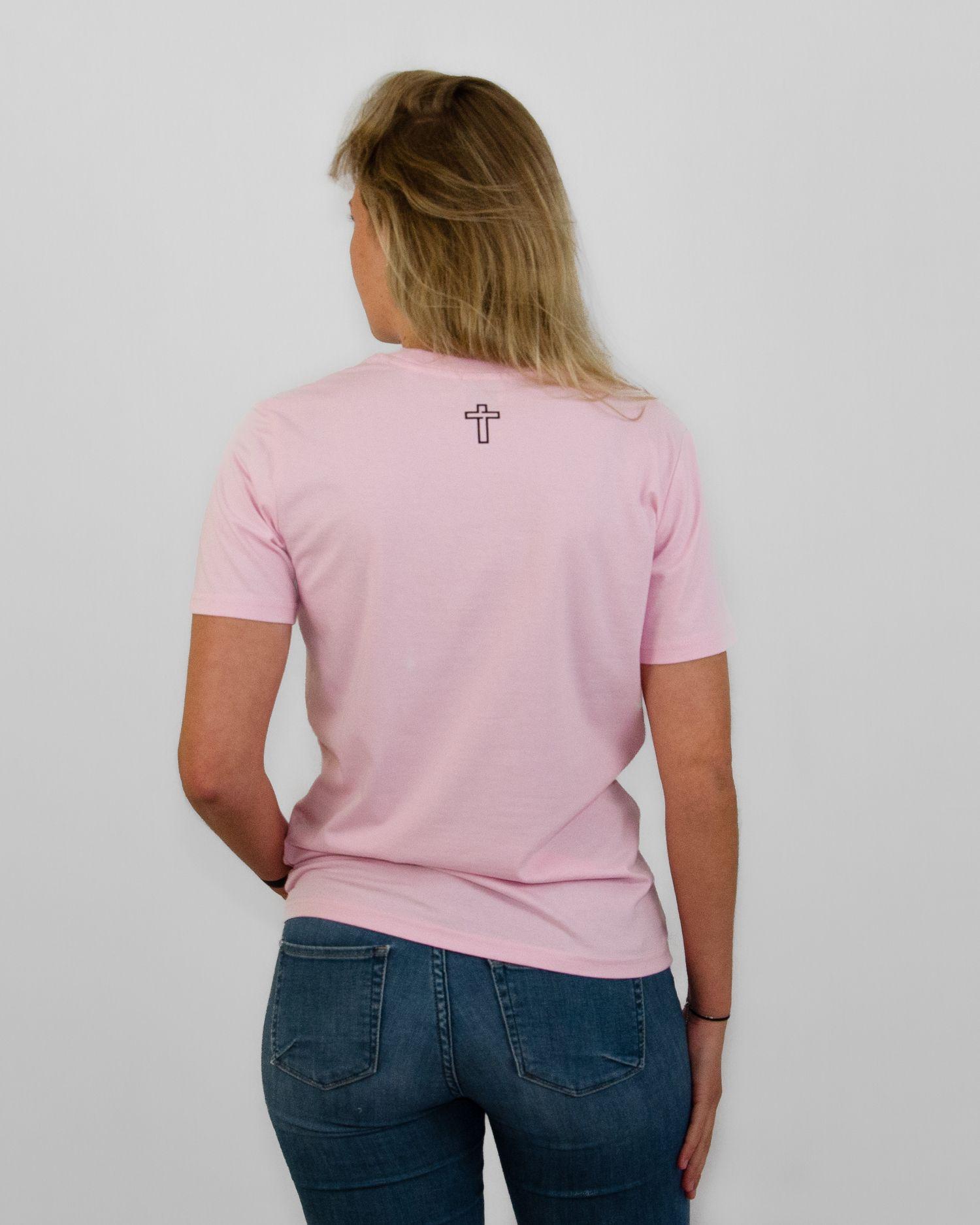 New Testament Original T Roze Pink Dames_achter