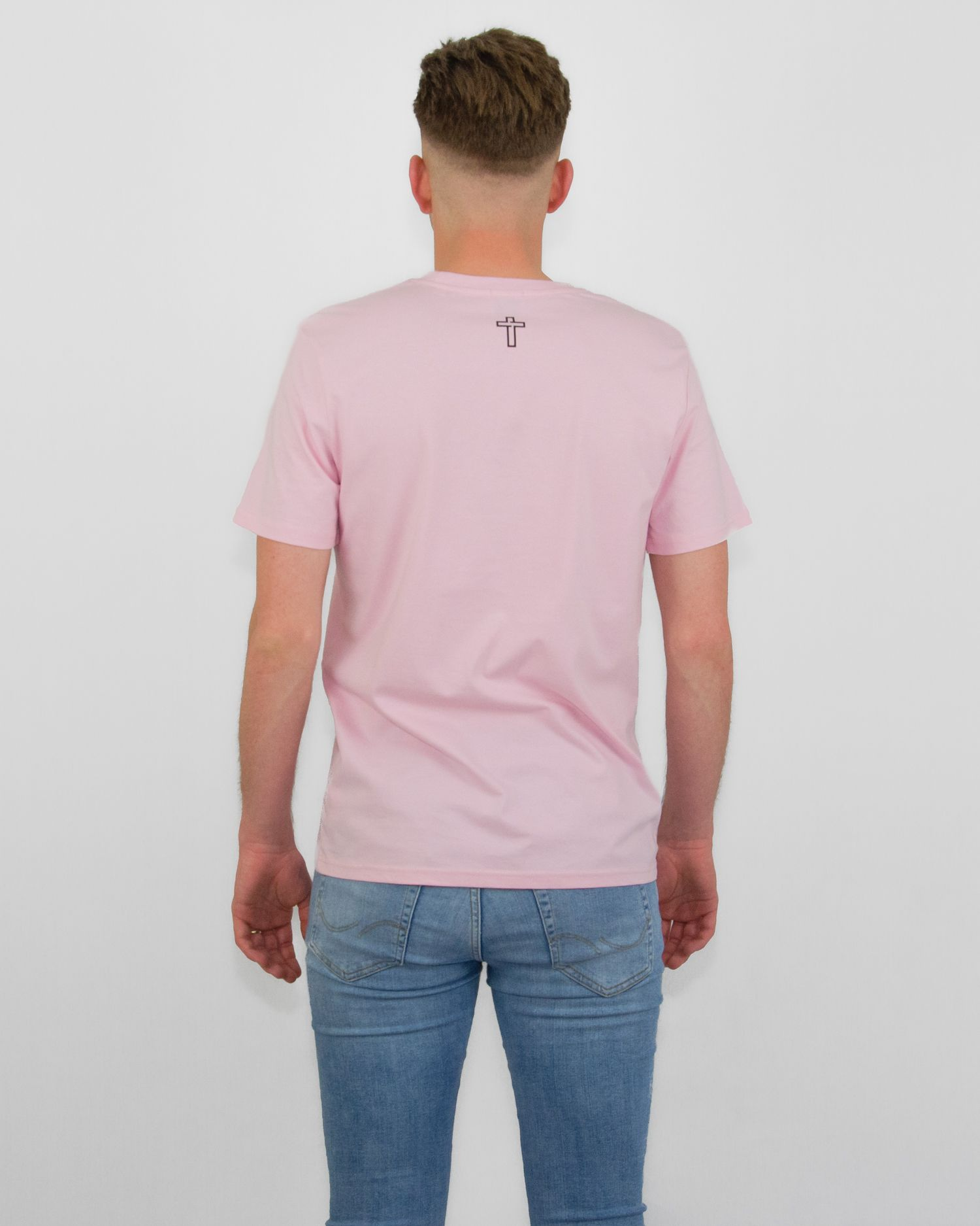 New Testament Original T Roze Pink Heren Achter